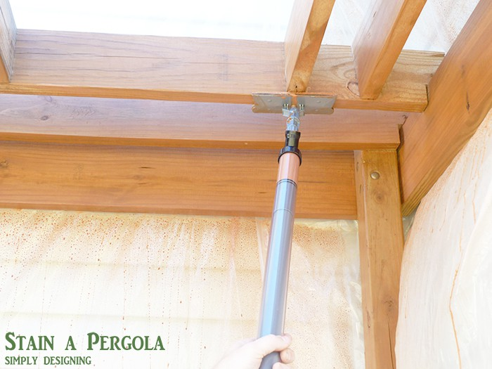 staining a pergola