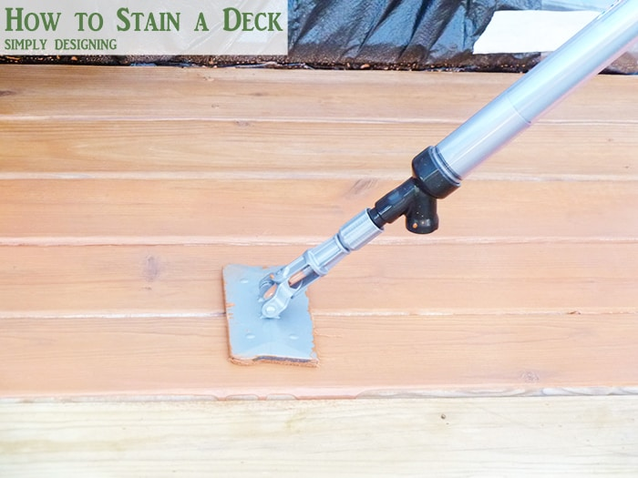 use a stain stick to apply stain on a deck
