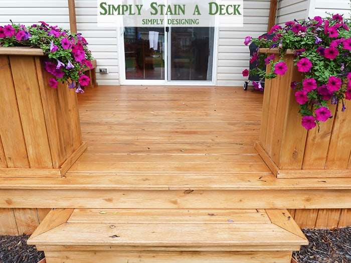 spray stain deck