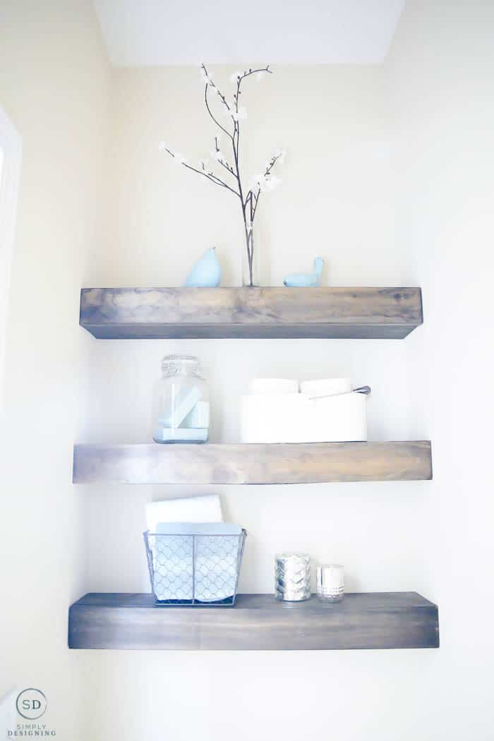 how to DIY floating shelves