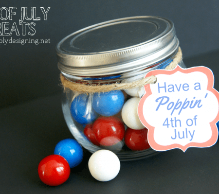 4th of July Treat Jar and FREE Printable