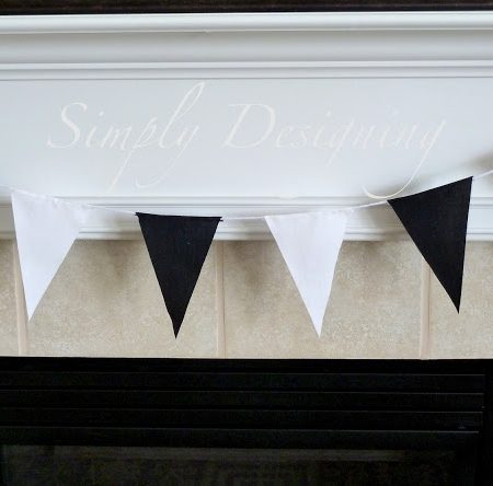 Race Party:  Black and White Pendant Banner