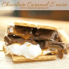 Chocolate Caramel S'mores   { #campKOA #ad }