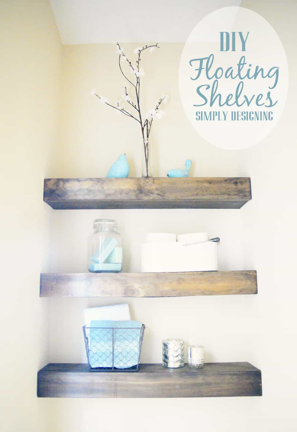 Fancy DIY Floating Shelves how to build floating shelves these make a perfect shelf for