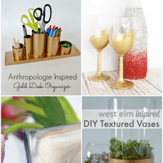 Gold (and a touch of Silver too) DIY Decor Ideas