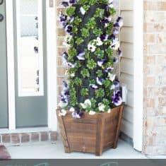 DIY Flower Tower {Part 1} #DigIn #HeartOutdoors #Spring #sponsored