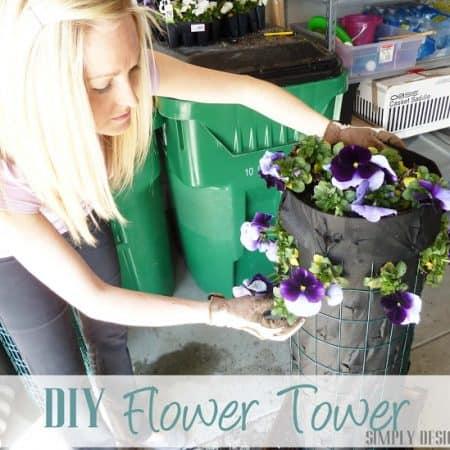 DIY Flower Tower {Part 3} #DigIn #HeartOutdoors #Spring #sponsored