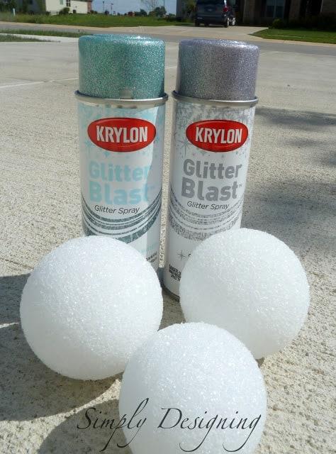 Glitter Blast Spray Paint Keychains