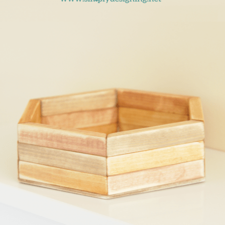 DIY Hexagon Catchall | click the photo to see how to create this really cool layered hexagon catchall