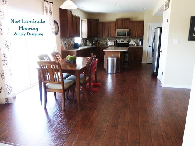Choosing Wood Flooring Color For Golden Pine Kitchen Cabinets