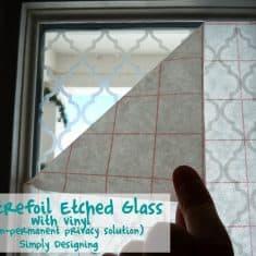 Etched Glass Address