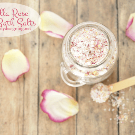 Vanilla Rose Petal Bath Salts