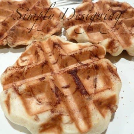 Cinnamon Bun Waffles