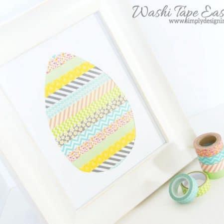 Washi Tape Easter Egg Decor