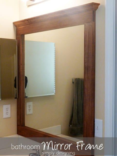 Bathroom Mirror Re Vamp Part 2