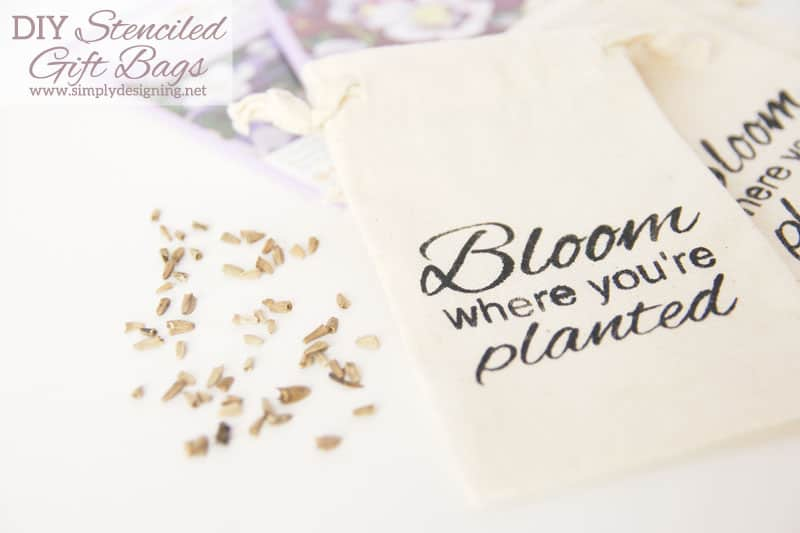 "DIY Stenciled ""Bloom"" Gift Bag"