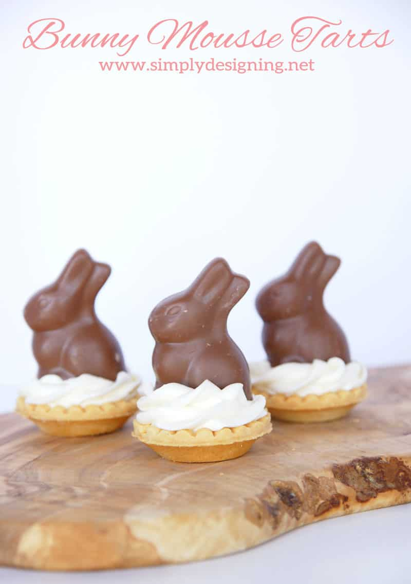 Bunny Mousse Tarts | These are so simple to make but taste incredible! Perfect for an Easter or Spring time Dessert! | #easter #bunny #recipe #easterrecipe