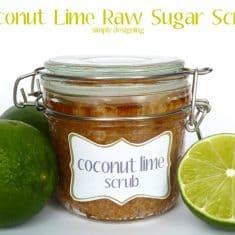 Coconut Lime Raw Sugar Scrub