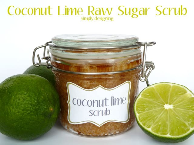 Raw Sugar Scrub Recipe Using Coconut Oil And Fresh Limes