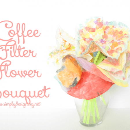Coffee Filter Flower Bouquet | a really fun kid craft using supplies you may already have at home! So cute! Pinning for later