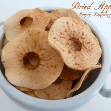 Cinnamon Sugar Dried Apples