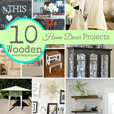 10 DIY Home Decor Projects made with Wood