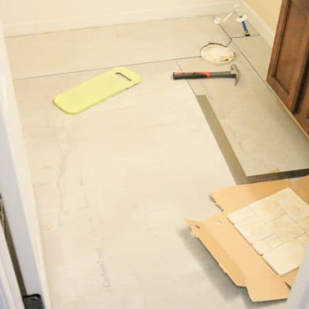How to Install Concrete Backer Board {Tile Installation: Part 2} #thetileshop @thetileshop