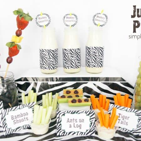 Jungle Party + Monkey Smoothie Recipe + { Free Printables} #junglefresh #shop