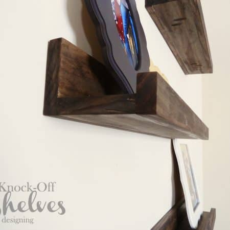DIY PB Knock-Off Shelves | how to make knock-off shelves with a Kreg Jig | #diy #shelves #knockoff
