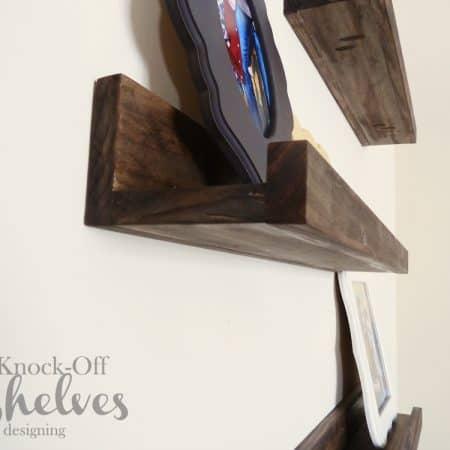 DIY PB Knock-Off Shelves | how to make knock-off shelves with a Kreg Jig | #diy #shelves #knockoff