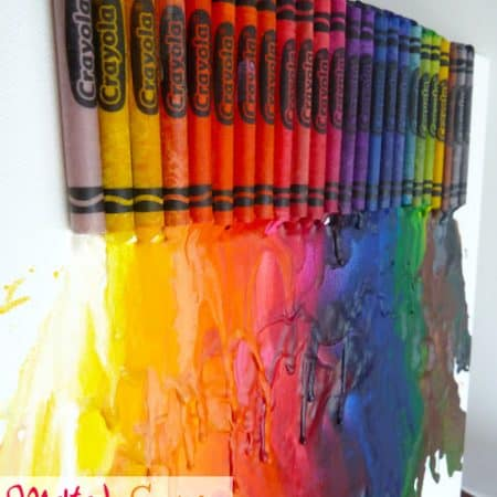 Melted Crayon Abstract Art