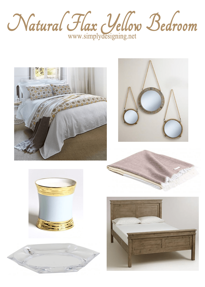 Natural Flax Yellow Guest Bedroom Inspiration Board