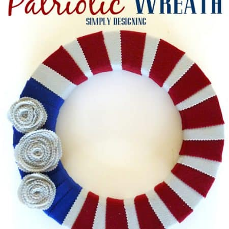 Patriotic Felt Wreath #wreathhoa