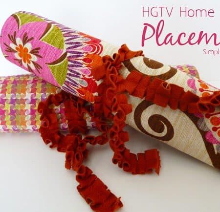 HGTV Home Decor Fabric Placemats