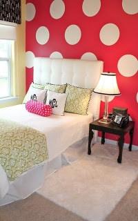 Polka Dots in a Teen or Tween Bedroom