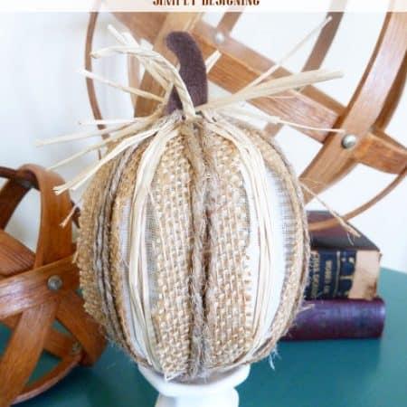 Burlap Harvest Pumpkins {Pottery Barn Inspired}