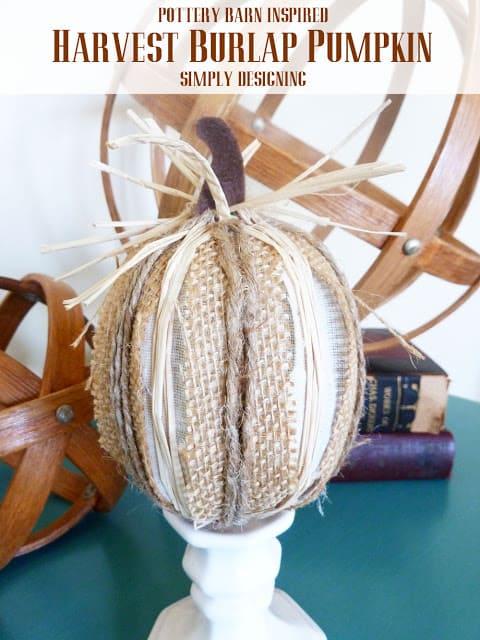 Burlap Harvest Pumpkins Pottery Barn Inspired Simply