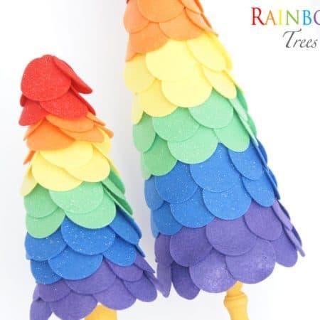 Felt Rainbow Topiaries
