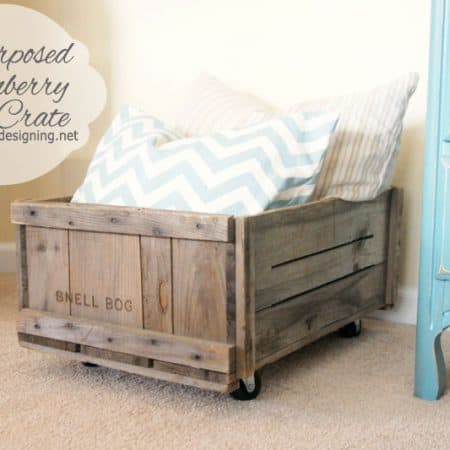 Repurposed Vintage Cranberry Bog Crate