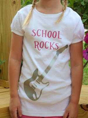 School Rocks T-shirt using Iron on Vinyl