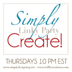 Simply Create Link Party {26} + Features