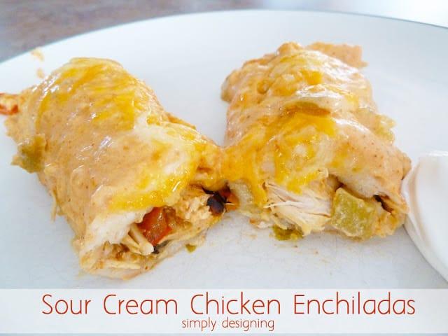 The BEST Sour Cream Chicken Enchiladas (no cream-of-anything soup!)