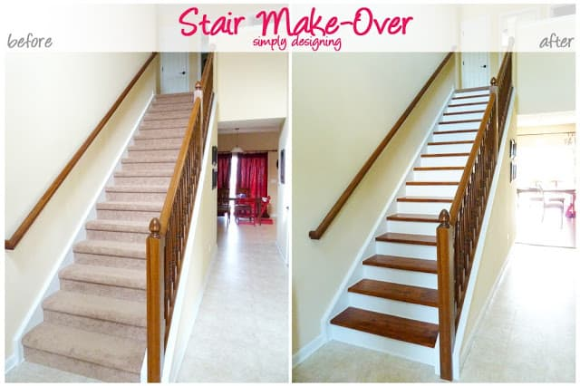 Redo stairs how to remove carpet and prep stair risers - Idee deco pour escalier ...