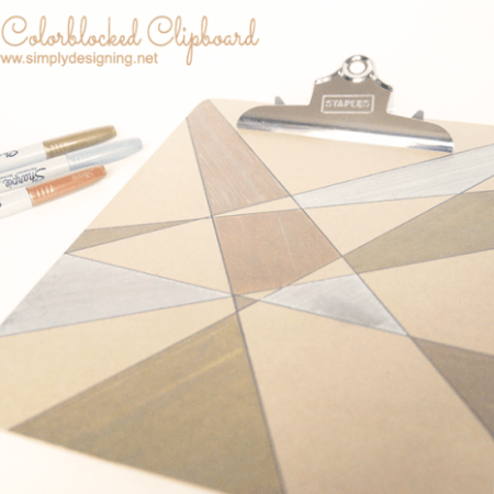 Metallic Colorblocked Clipboard