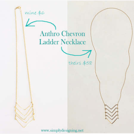 Anthropologie Necklace Knock-Off: Chevron Ladder Necklace