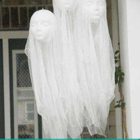 DIY Halloween Decorations | Floating Head Hanging Ghosts