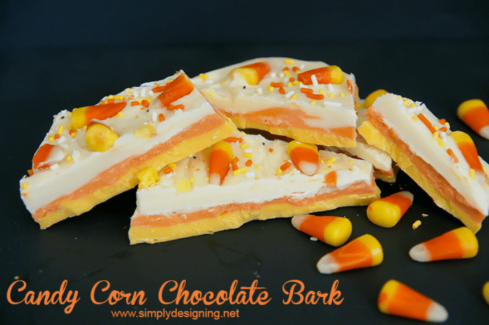 Candy Corn Bark #halloween #recipes #fall