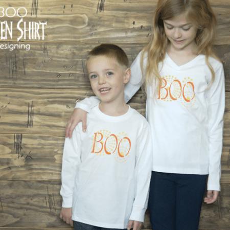 DIY Boo Halloween Shirt   #halloween #crafts #fall