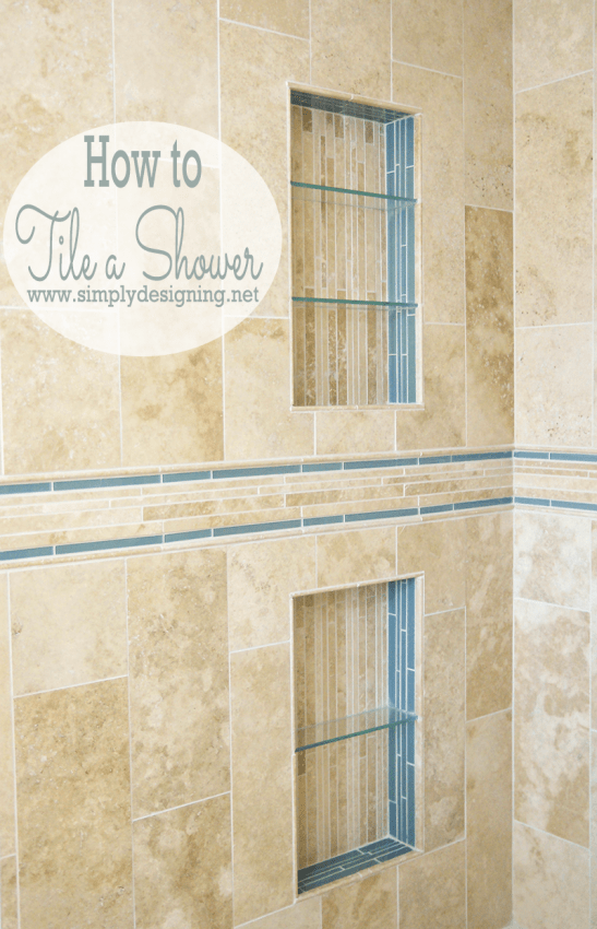 How to Tile a Shower Shelf Come see how simple it is to tile a shower to create a custom and unique look in your own home while saving a lot of money by doing it yourself!