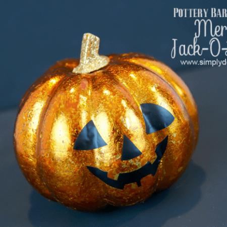 Mercury Jack-O-Lantern Pottery Barn Knock Off   #halloween #fall #crafts #potternbarnknockoff